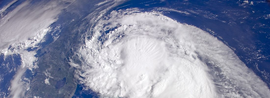 Satellite pictures of tropical Storm Barry
